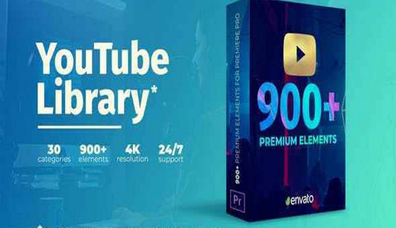 Free Download Youtube Pack Transitions & Assets, Premiere Pro Templates Videohive -27009072