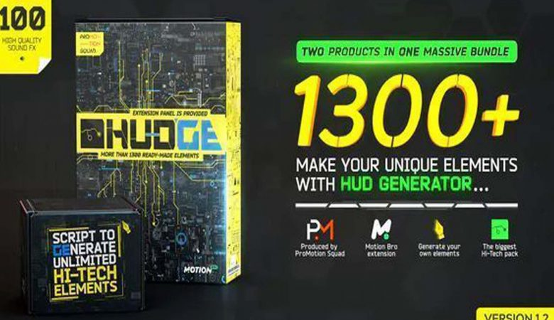 Free Download HUDGE Generator of Hi-Tech Elements1300+ UI HUD Free Download – After Effects Project Files – Videohive 26509230