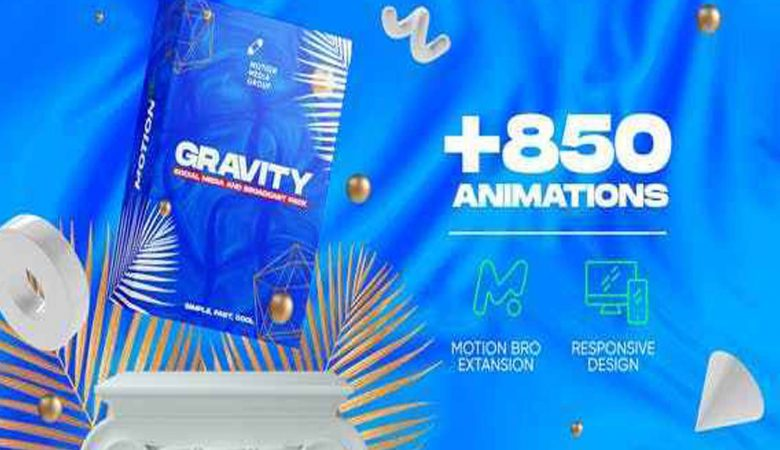Videohive Gravity | Social Media and Broadcast Pack 26414068 Free Download