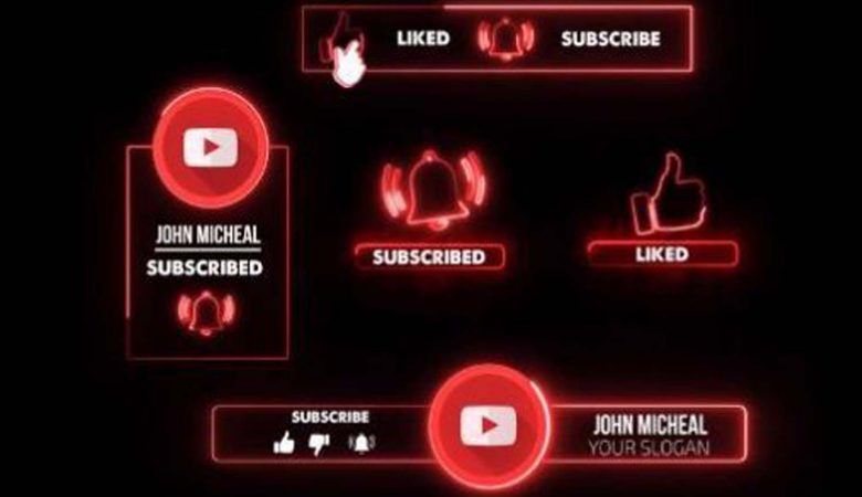 Motionarray Youtube Neon Subscribe Premiere Pro -587635