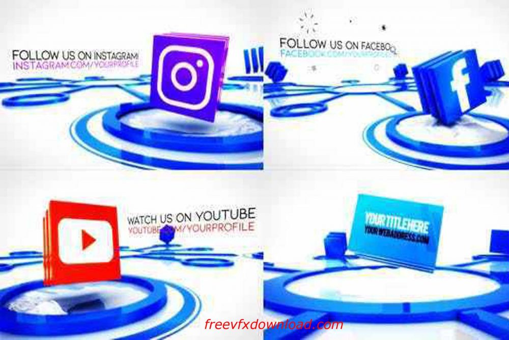 Social Media Connections Titles Videohive-27868122, Free Download