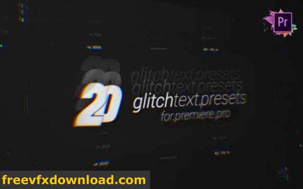 Videohive 20 Glitch Text Presets Pack for Premiere Pro MOGRT 26974957 Free Download