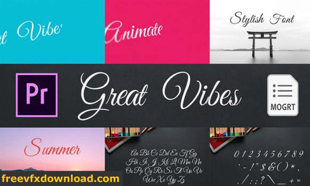Great Vibes Animated Typeface for Premiere Pro Videohive-28147074