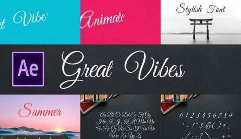 Videohive 28451669 Great Vibes Animated Typeface for After Effects