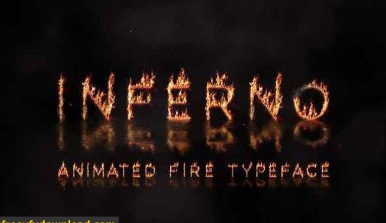 Videohive Inferno Animated Fire Typeface 28383531 Free Download
