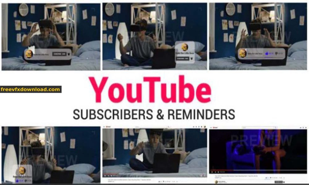 YouTube Subscribe & Reminders After Effects