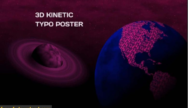 3D Kinetic Typo Poster for After Effects Free Download