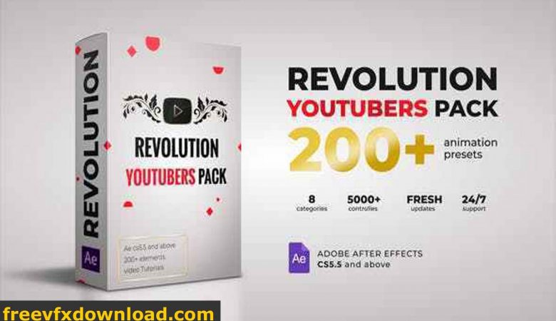 Videohive-27209829 Revolution Youtubers Pack Free Download