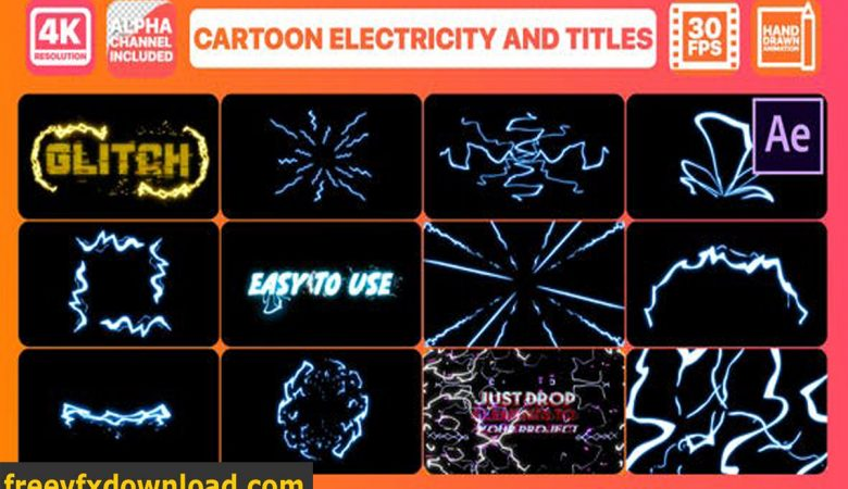 Videohive Cartoon Electricity And Titles