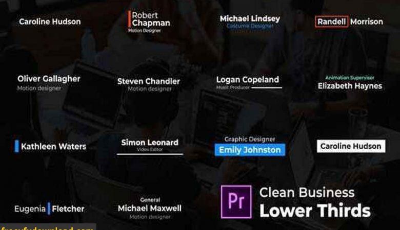 Videohive-26615253 Clean Business Lower Thirds – For Premiere Pro
