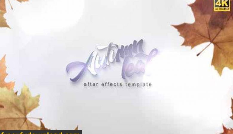 Videohive-28291191 Autumn Leaf Reveal