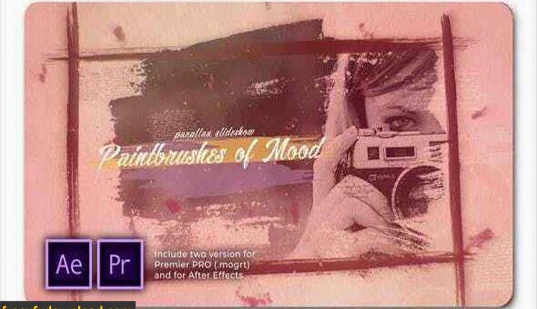 Videohive-28155146 Paintbrushes of Mood Parallax Slideshow