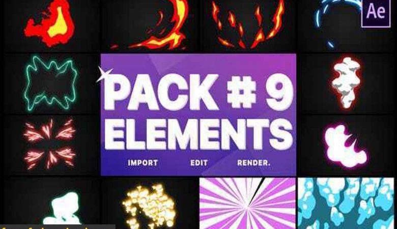Videohive-28410665 Flash FX Elements Pack 09 | After Effects