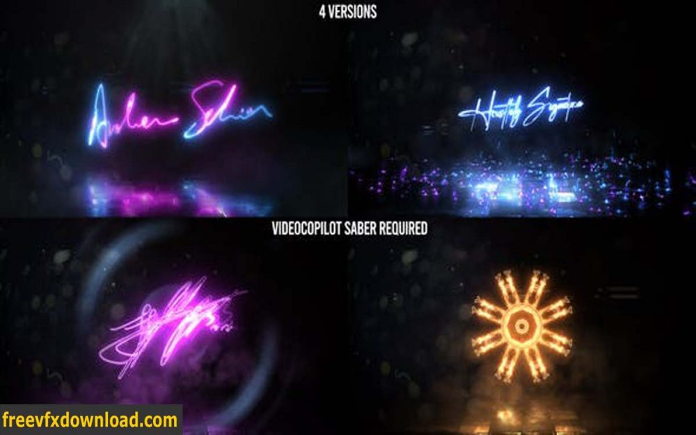 Videohive-26029112 Neon Signature Reveal Pack
