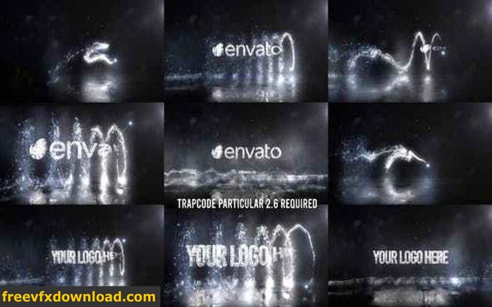 Videohive-27088823 Glowing Particals Logo Reveal 37: Silver Particals 02