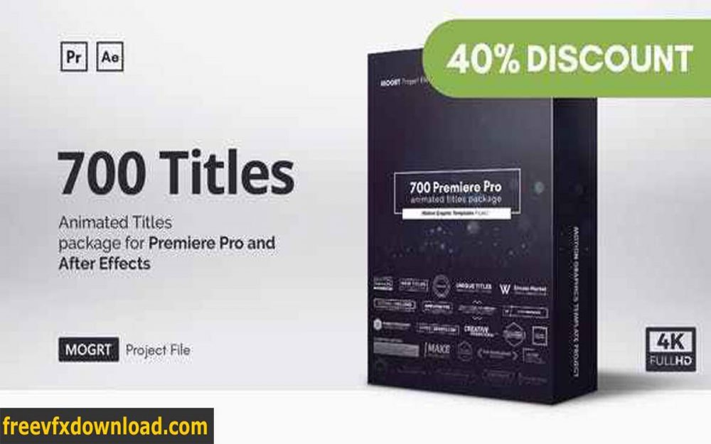Videohive-21688149 Mogrt Titles 500 Animated Titles for Premiere Pro & After Effects V4