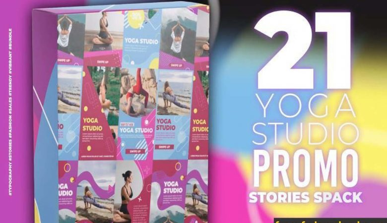 21 Yoga Stories Pack for After Effects