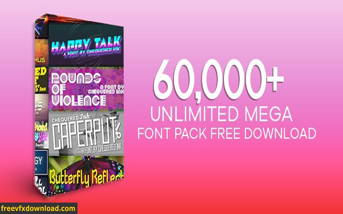 Download Free Download 60000+ Unlimited Mega Font Pack | free VFX ...