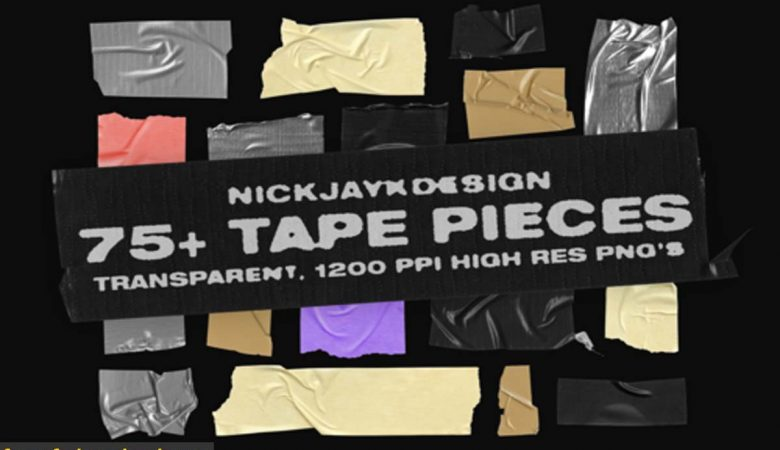 Nickjaykdesign – Tape Pieces – 75+ Transparent PNGs