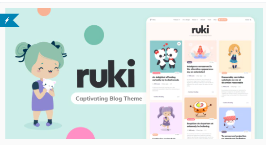 Ruki - A Captivating Personal Blog Theme [themeforest- 27250346] Download