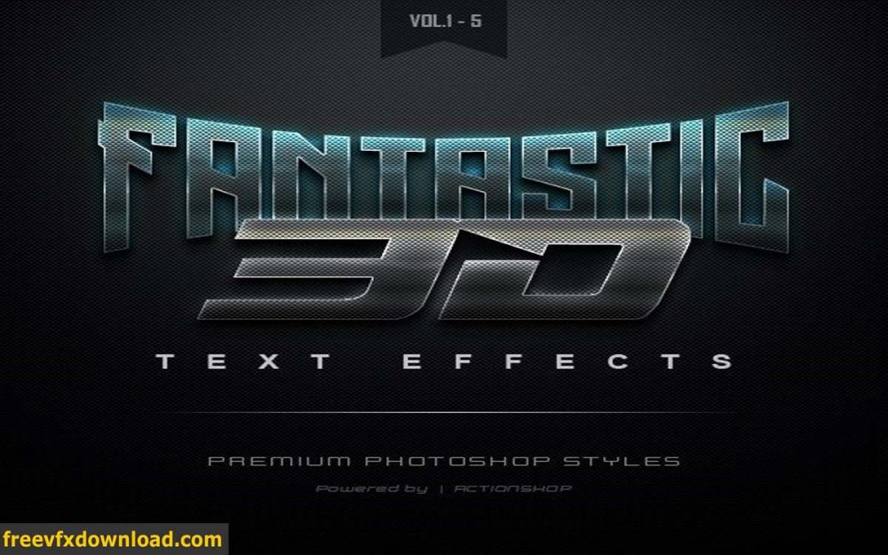 Graphicriver 3D Text Effects Bundle One
