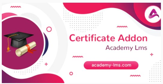 Academy LMS Certificate Addon [codecanyon- 25515213]