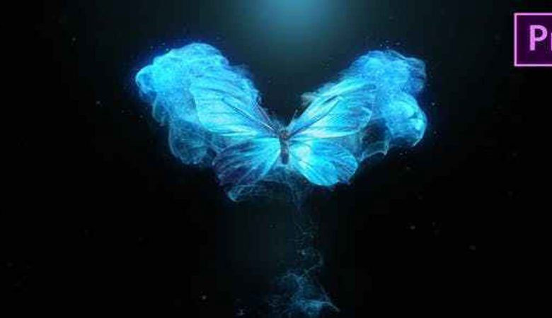 Flying Butterfly Logo Reveal 4k- Premiere Pro Videohive-24346498