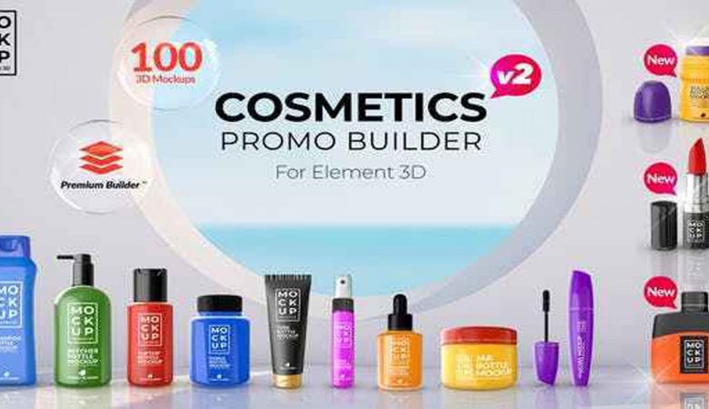 Free Download Videohive Cosmetics Promo Builder V2 27750938 After Effects Templates