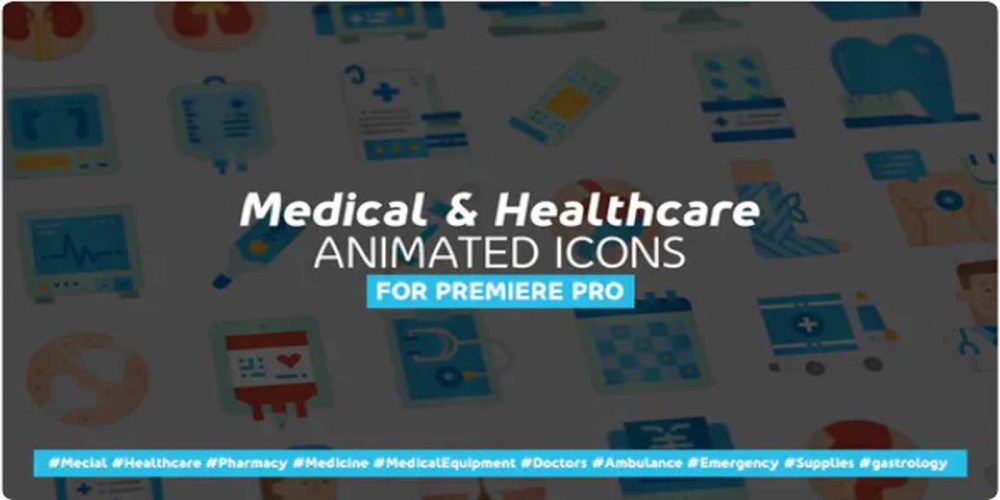 Medical & Healthcare Icons – Mogrt Videohive 31935056
