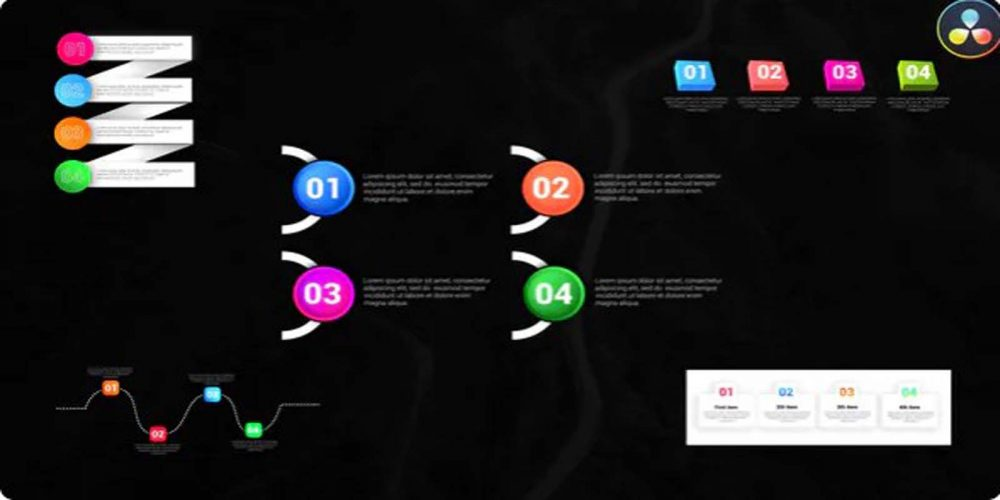 Infographic Colorful Lists Videohive 32184895