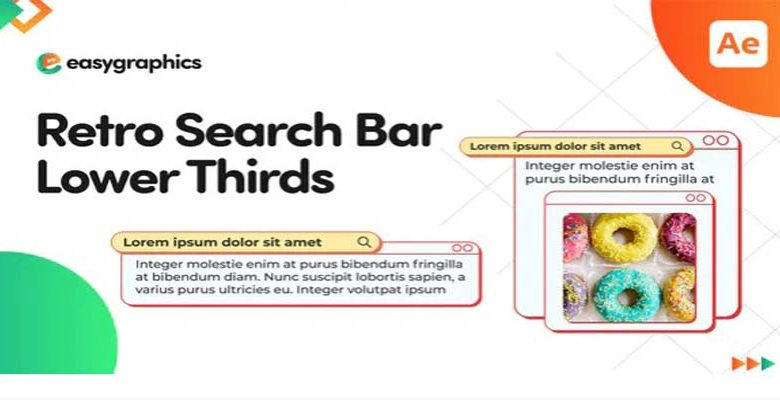 Retro Search Bar Lower Thirds Videohive 32753394