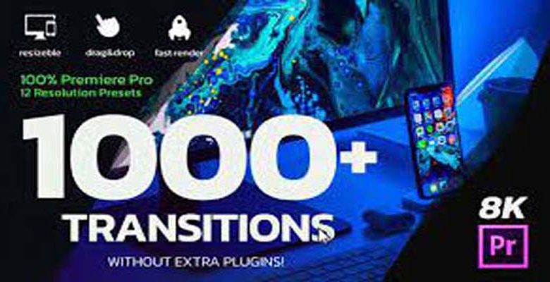 1000 Premiere Pro Transitions Motion Design Presets Resizable Videohive 26058666