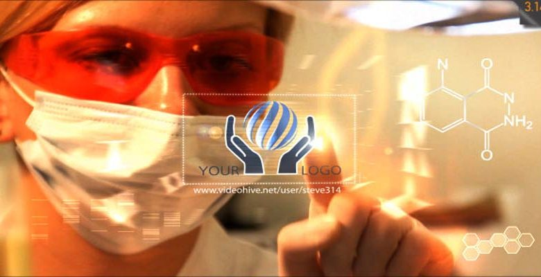 Medical Research Lab Med Chemistry Logo Intro Videohive 11620844