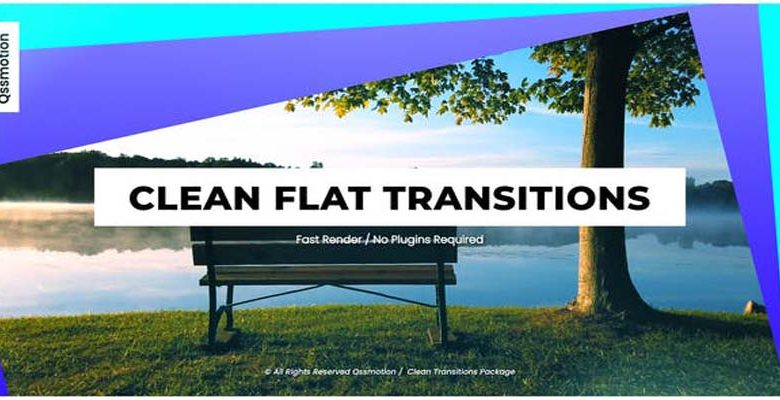 Clean Flat Transitions