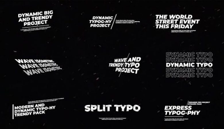 Dynamic Kinetic Typography Videohive 33428271