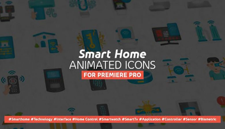 Smart Home Modern Flat Animated Icons – Mogrt Videohive 33520906
