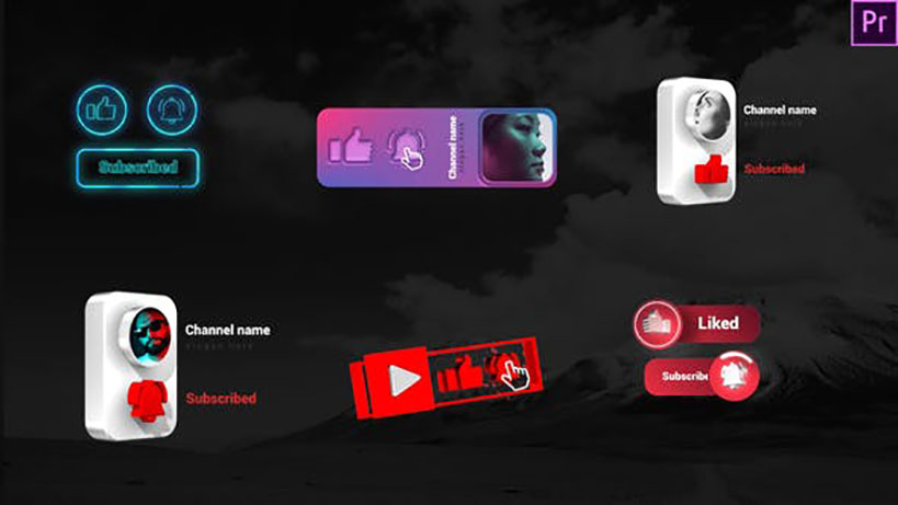Youtube Creative Subscribe Elements Videohive 33461224