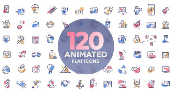 120 Animated Icons For Premiere Pro