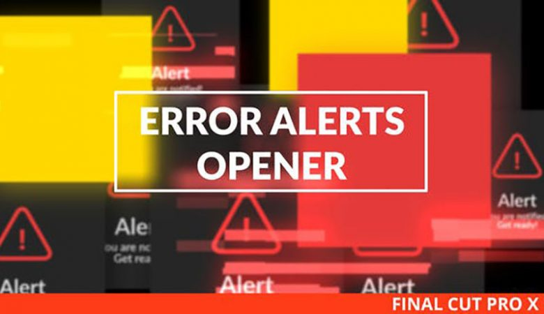 Error Messages Glitch Opener for Final Cut Pro X