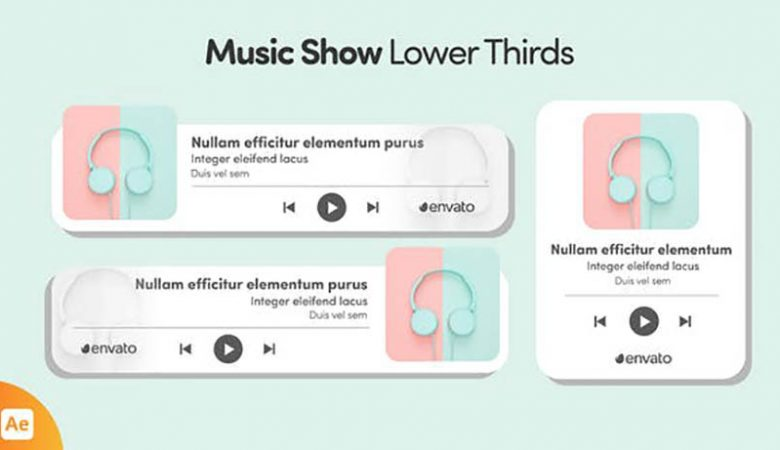 Music Show Lower Thirds