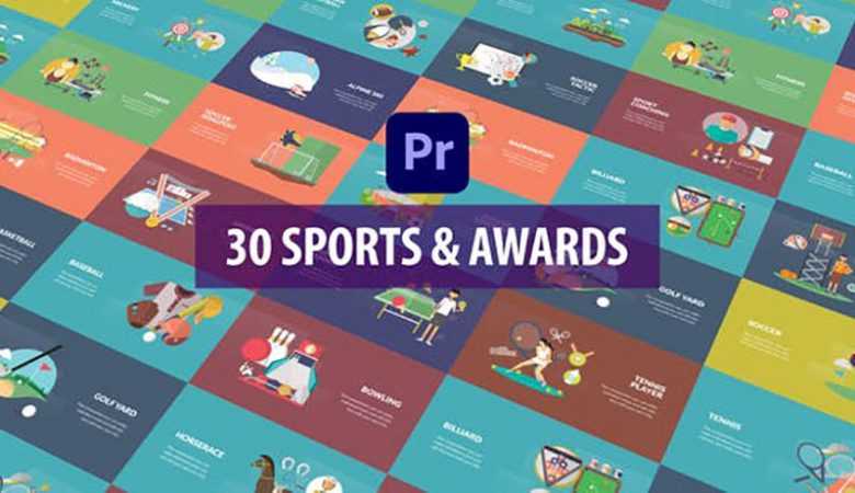 Sport and Awards Animation Premiere Pro MOGRT