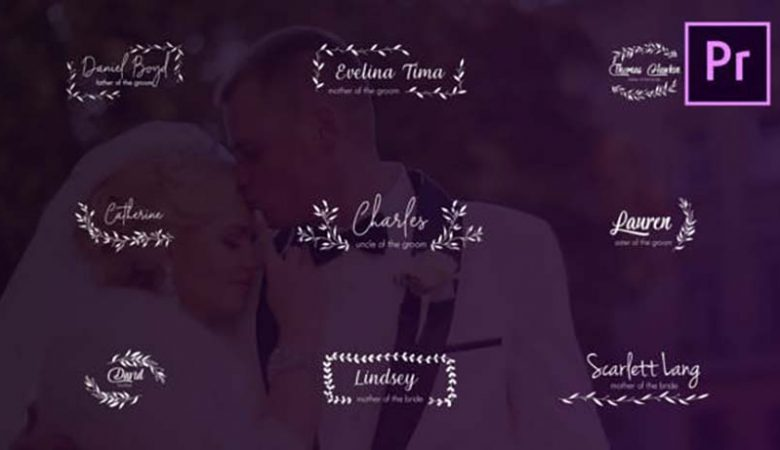 Wedding Titles and Lower Thirds